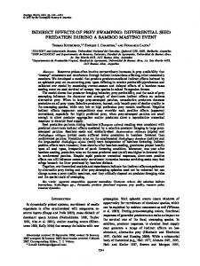 indirect effects of prey swamping: differential ... - Wiley Online Library