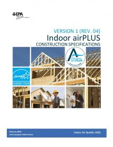 Indoor airPlus Construction Specifications - EPA