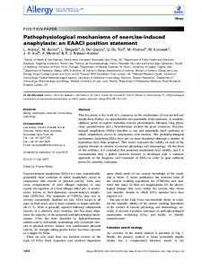 induced anaphylaxis: an EAACI position statement - Wiley Online Library