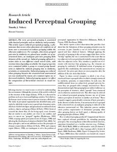 Induced Perceptual Grouping - SAGE Journals
