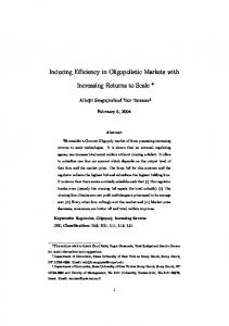 Inducing Efficiency in Oligopolistic Markets with ...