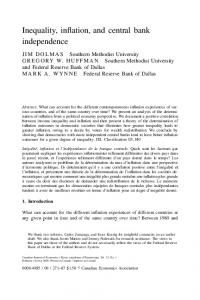 Inequality, inflation, and central bank ... - Wiley Online Library
