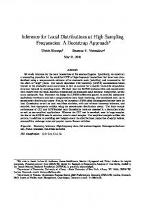 Inference for Local Distributions at High Sampling ...