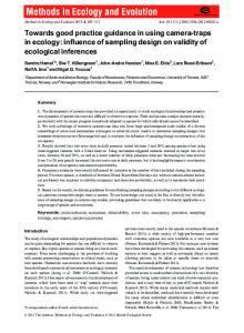 influence of sampling design on validity of ecological ...