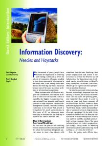 Information Discovery - Semantic Scholar