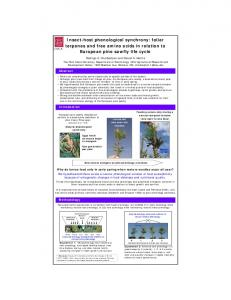 Insect-host phenological synchrony - The Ohio State University