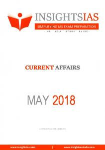 InsightsonIndia May 2018 Current Affairs