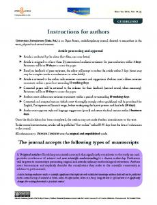 Instructions for authors - Revista Javeriana