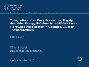 Integration of an Easy Accessible, Highly Scalable, Energy ... - HUCAA