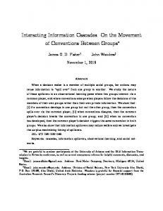 Interacting Information Cascades: On the Movement ... - John Wooders