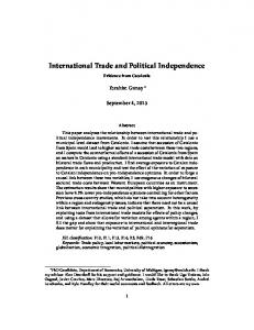 International Trade and Political Independence