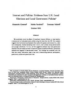 Internet and Politics: Evidence from UK Local ... - Semantic Scholar
