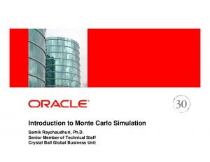 Introduction to Monte Carlo Simulation - PDFKUL.COM