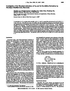 Investigation of the Photoelectrochemistry of C60 and Its Pyrrolidine ...