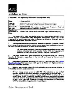Invitation for Bids - Asian Development Bank