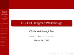 iOS: Evil Hangman Walkthrough - cs164