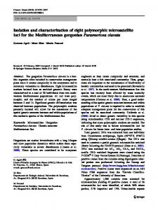 Isolation and characterization of eight polymorphic ... - Springer Link