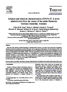 Isolation and chemical characterization of PwTx-II - STI - Unesp - Rio ...