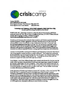 January 20, 2010 FOR IMMEDIATE RELEASE Press ... -