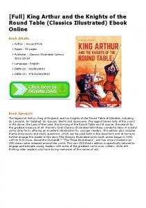 king arthur and the knights of the round table essay The knights of the round table were noble in their actions sir launcelot is a prime example of nobility of the round table throughout his life, launcelot was unselfish, caring, and faithful to.