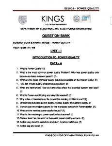 Kings Engineering College Electrical & Electronics Engineering ...
