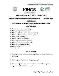 Kings Engineering College Mechanical Engineering Sem 8 ...