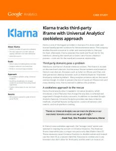 Klarna tracks third-party iframe with Universal Analytics ...