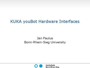 KUKA youBot Hardware Interfaces - RoboCup@Work