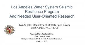 LADWP Seismically Resilient Pipe Network