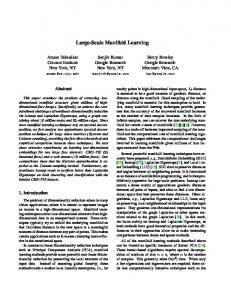 Large-Scale Manifold Learning - UCLA CS