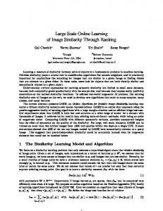 Large Scale Online Learning of Image Similarity ... - Research