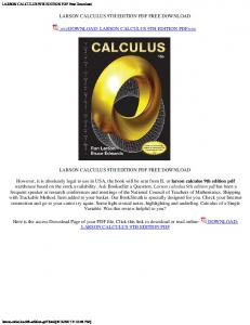 Larson edwards calculus 10th edition pdf use the drop menus below calculus 10th edition by ron larson and bruce edwards pdf larson calculus 10th c2014 fandeluxe Images