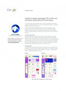 Latitude increases homepage CTR by 29% and conversion ...