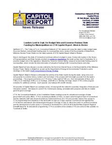 Leaders Look to Sept. for Budget Vote and Governor Revises State ...