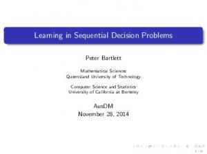Learning in Sequential Decision Problems