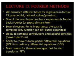 lecture 15: fourier methods - GitHub