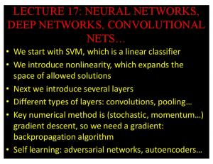 lecture 17: neural networks, deep networks, convolutional ... - GitHub