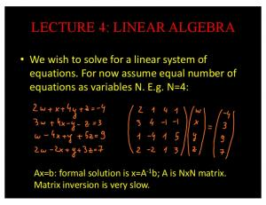 lecture 4: linear algebra - GitHub