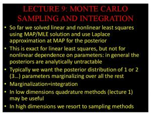 lecture 9: monte carlo sampling and integration - GitHub