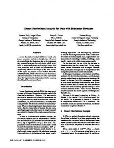 Linear Discriminant Analysis for Data with Subcluster ... - IEEE Xplore