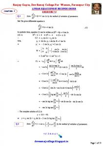 Linear Equations Of Second Order_Exercise 7.3.pdf