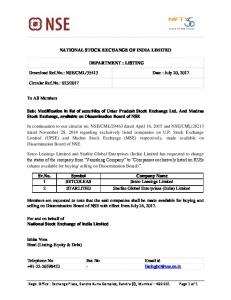 LISTING Download Ref.No.: NSE/CML/35413 Date
