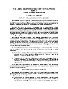 Local Government Code - Book 3 Local Government Units.pdf ...