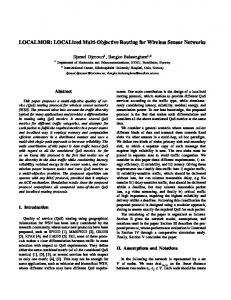 LOCALized Multi-Objective Routing for Wireless Sensor ...