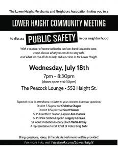 lower haight community meeting -