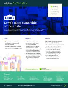 Lowe's takes ownership of their data