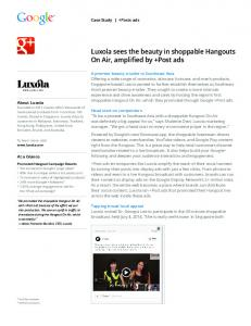 Luxola sees the beauty in shoppable Hangouts On ...  Services