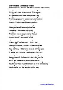 Lyric & Chord - Everybody's Somebody's Fool - Connie Francis.pdf ...