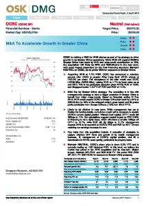 M&A To Accelerate Growth In Greater China - RHB Research Institute
