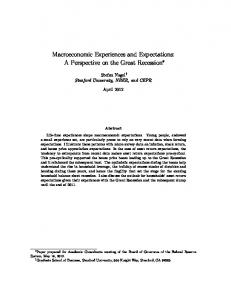 Macroeconomic Experiences and Expectations: A ... - Semantic Scholar